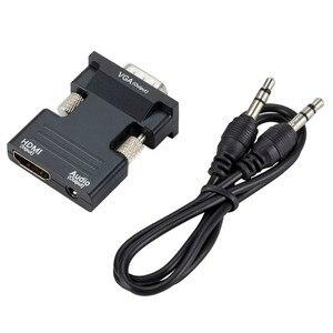 Image 2 - HDMI Femmina a VGA Maschio del Convertitore con Audio Adapter Supporto 1080P Uscita Del Segnale per il Multimedia Computer Portatile Del PC TV Monitor proiettore