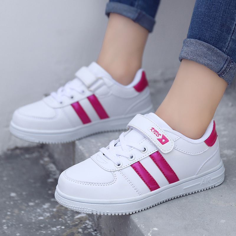 2020  children's fashion sneakers new boys girls sport shoes casual white shoes for kids Spring/Autumn  Rubber  Unisex