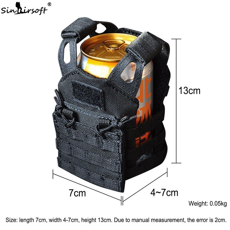 US Army Tactical Advanced Beer Military Molle Mini Mini Hunt Outdoor JPC Vest Drink Cooler Adjustable Shoulder Strap
