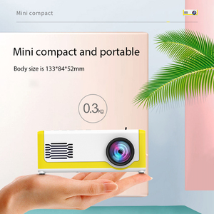 M1 Portable Mini Projector 1800 Lumens HDMI 1080P Mini Home Projector 3.5mm Audio For AV USB SD TF Card USB Pocket Beamer