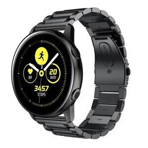 Image 2 - 時計バンドサムスンギャラクシー腕時計アクティブ2 44ミリメートル40ミリメートルバンド20ミリメートルステンレス鋼チェーンメタルブレスレット手首ストラップamazfitためbip