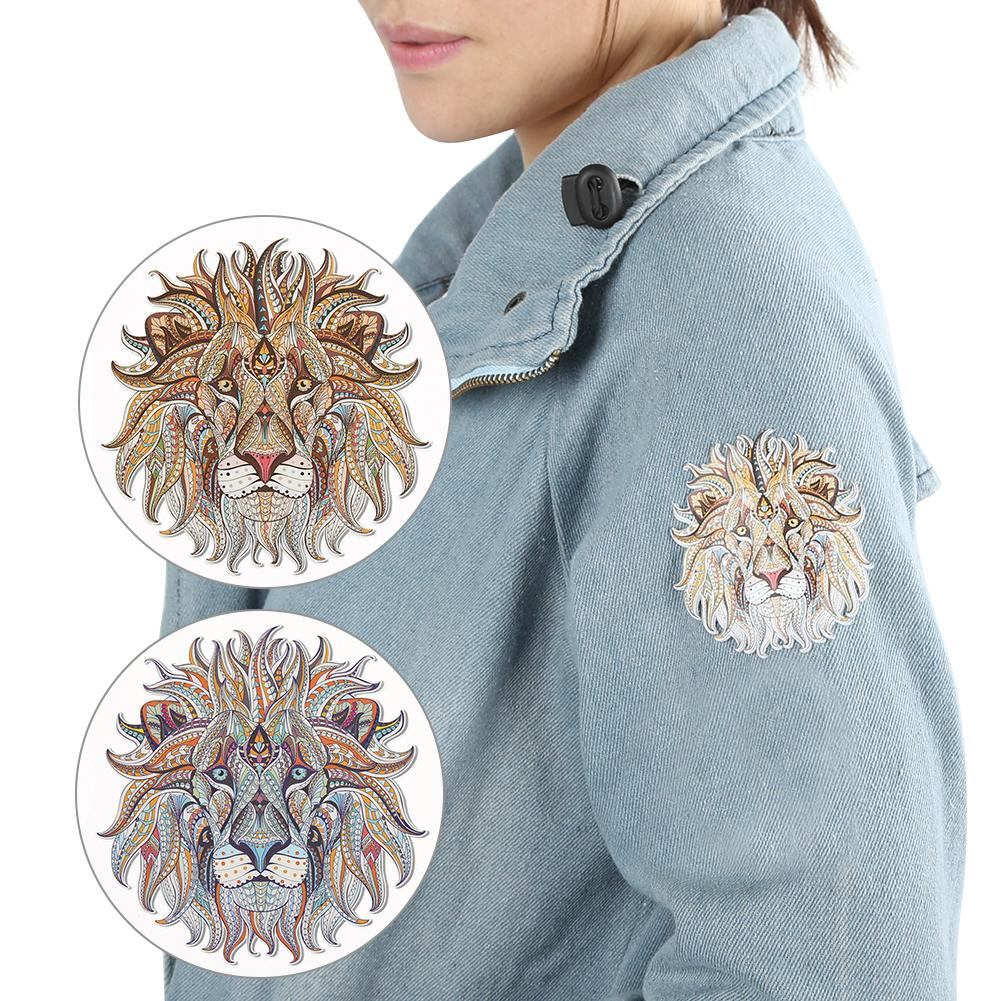 Iron-on Transfer Clothes Patches Cool 3D Lion Pattern Stickers For Top T-shirt