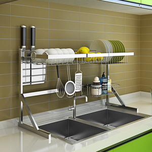 Image 4 - Over Sink Dish Drying Rack Kitchen Drainer Shelf for Dishes Bowl Stainless Steel Storage Counter Organizer Over Sink Space Saver