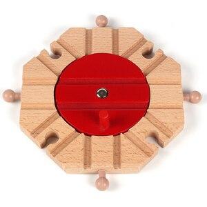Image 5 - Accessoires de piste de Train en bois, piste croisée, jouets de chemin de fer compatibles avec toutes les pistes, jouets éducatifs, accessoires de chemin de fer