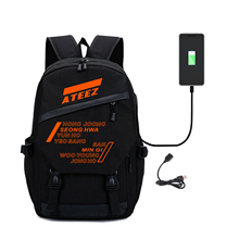 2019 Kpop Ateez backpack women Student Backpack bag for lapt