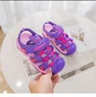 CYSINCOS Children Sandals 2019 Summer New Arrival Leather Color Fashion Girls Shoes Boys Beach Sandals Size 27 37