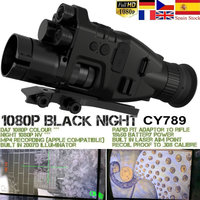 Night Vision Riflescope Monocular w/ Wifi APP 200M Range NV Scope 940nm IR Night Vision Sight Hunting Trail Camera Telescope