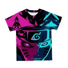2021 nova legal dos desenhos animados naruto 3d design t-camisa masculina/meninos da juventude camiseta casual camiseta superior roupas