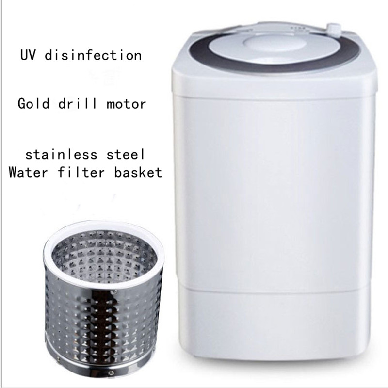 7kg Large Capacity Single Barrel Semi-automatic Mini Washing Machine UV Disinfection  Washer And Dryer Machine Baby Special Use