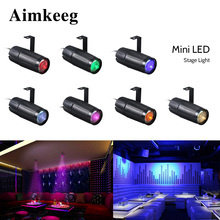 Aimkeeg Bar Club Disco Laser Light Beam Lights AC90-240V 10W LED Stage Effect Dj Lighting Party KTV Professional Beam Spotlight cheap Stage Lighting Effect DMX Stage Light Professional Stage DJ