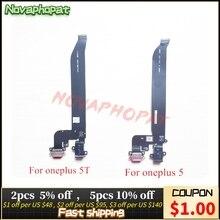 Novaphopat para oneplus 1 + 5 a5000/5t a5010 doca conector carregador usb porto de carregamento fone de ouvido jack cabo flexível módulo + rastreamento