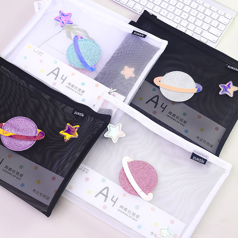 A4 A5 A6 File Bag Phantom Planet Document Bag File Folder Stationery Filing Production School Office Supply