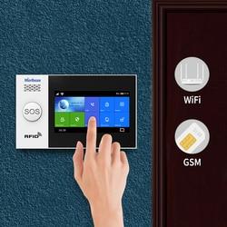 Marlboze 4,3 pulgadas IPS Color pantalla WIFI red GSM GPRS Anti-manipulación antirrobo sistema de alarma de seguridad casa alarmas kit
