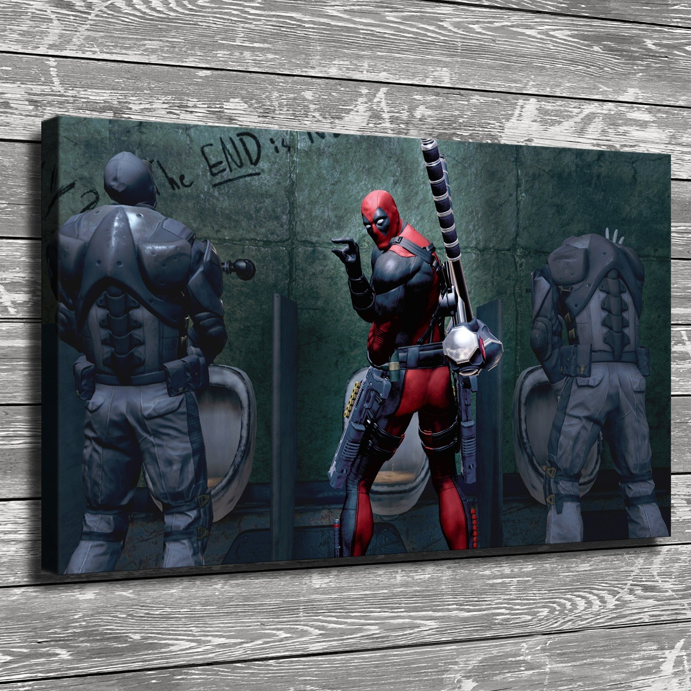 Deadpool Decoration Paintings Wall Art Giclee Hanging Painting Marvel Posters And Prints Cuadros Dormitorio Home Decor Kid