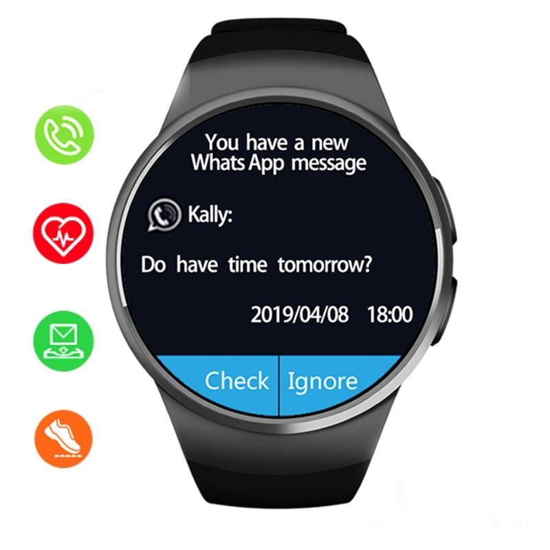 KW18 montre intelligente écran couleur fréquence cardiaque moniteur de sommeil assis alerte sport Fitness Tracker prend en charge la montre de carte SIM TF