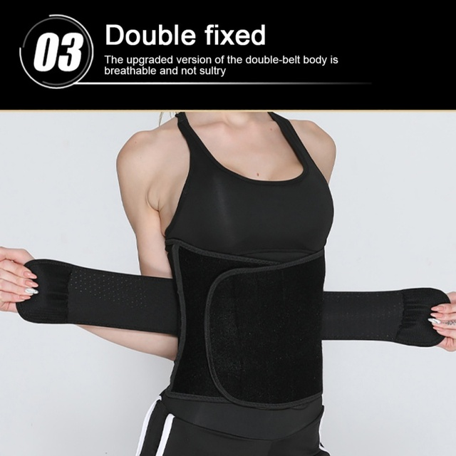 Women Waist Belt Weight Loss Cincher Trimmer Back Support Sweat Crazier Slimming Body Shaper Girdle Belt Fitness Running 4