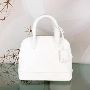 Image 2 - Sac à main de luxe pour femmes, sacoche tendance, sacoche de styliste de marque célèbre pour dames, sac en vrai cuir à coquille, 2020