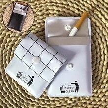 Storage-Bag Pocket Ashtrays Travel-Accessory Smoking-Cigar Outdoor Tobacco Black White