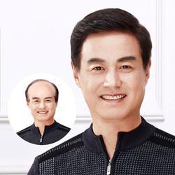 Middle-aged Man Wig 100% Real Hair Man Wig Handsome Dad Wig Natural Short Hair 100% Virgin Human Hair Eseewigs