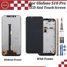 Ocolor Ulefone S10 Pro LCD ekran ve çerçeve ile dokunmatik ekran için 5.7 test Ulefone S10 Pro telefon + araçları + silikon kılıf