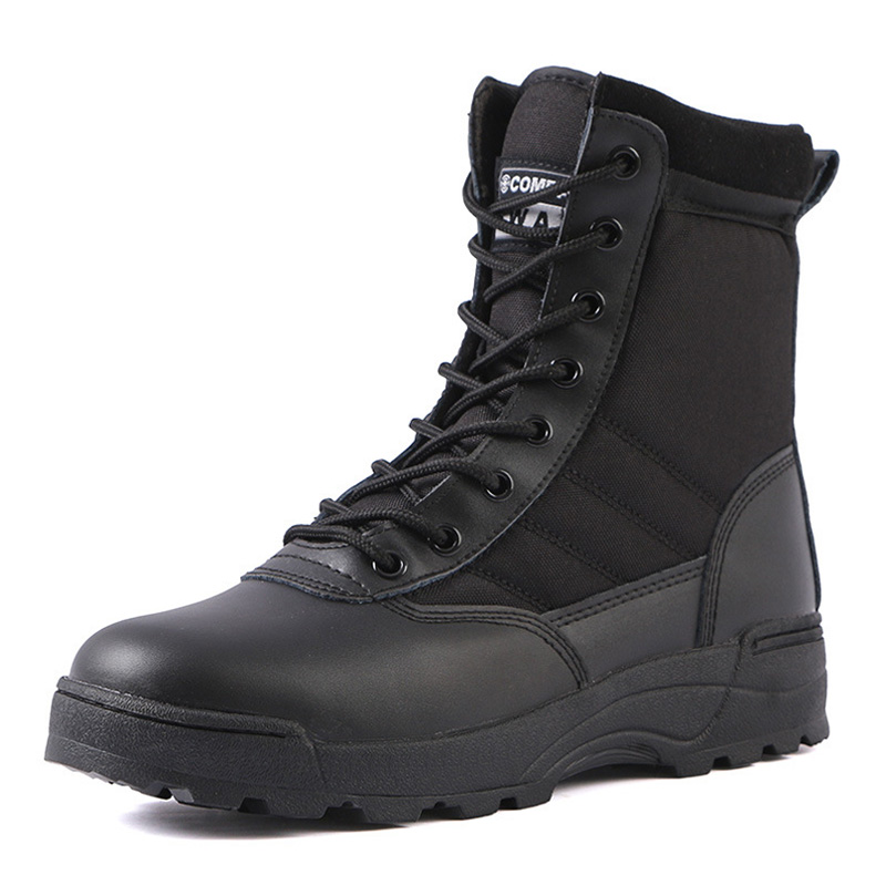Ankle Tactical Military Boots Outdoor Hiking Boots Army Boots Military Boots Desert Men Combat Work Shoes Plus Size 36 46