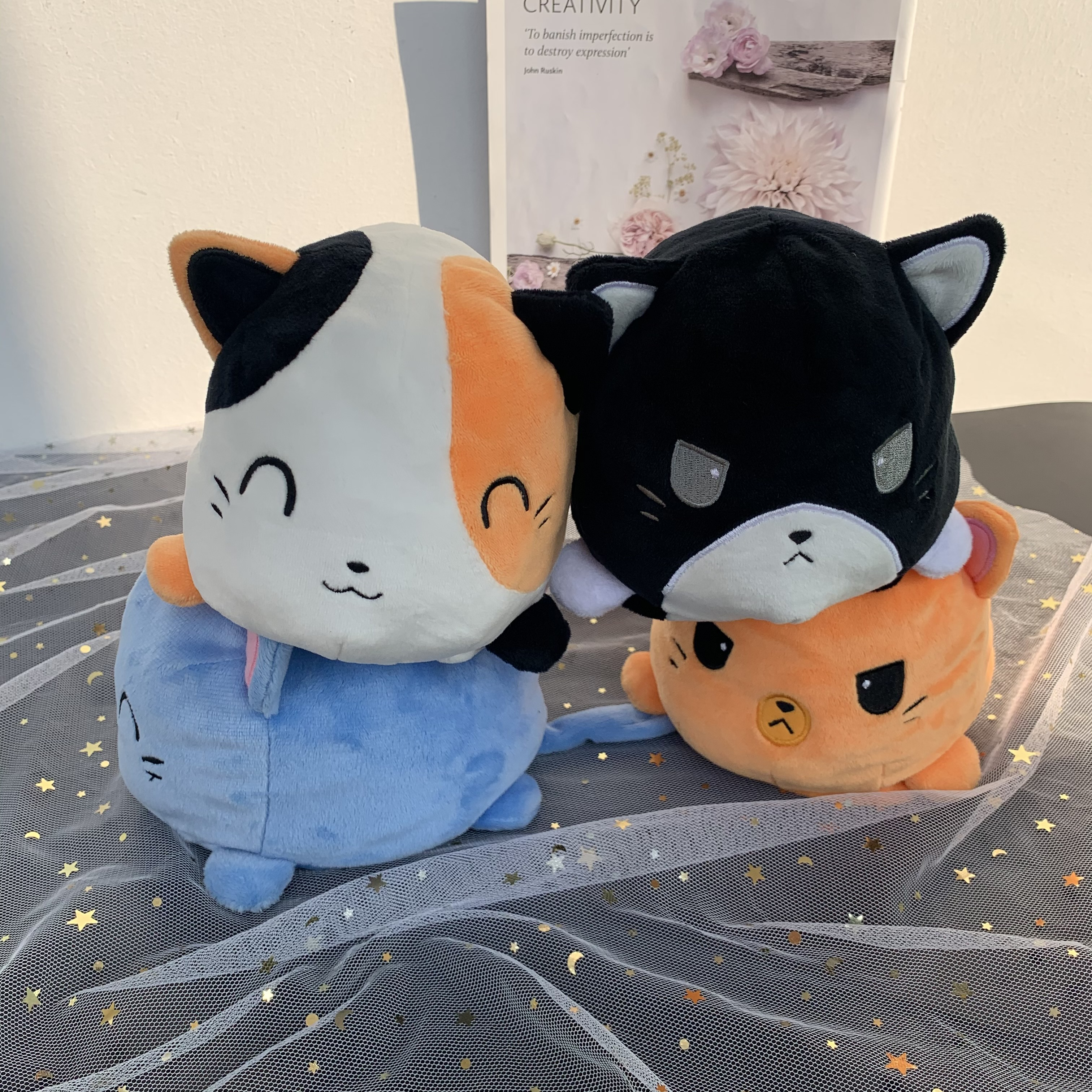Reversible cat Gato Peluche Pulpo Reversible Pulpito Reversible Flip Octopu Toys Plush Toy Children Kids Birthday Gift Toy