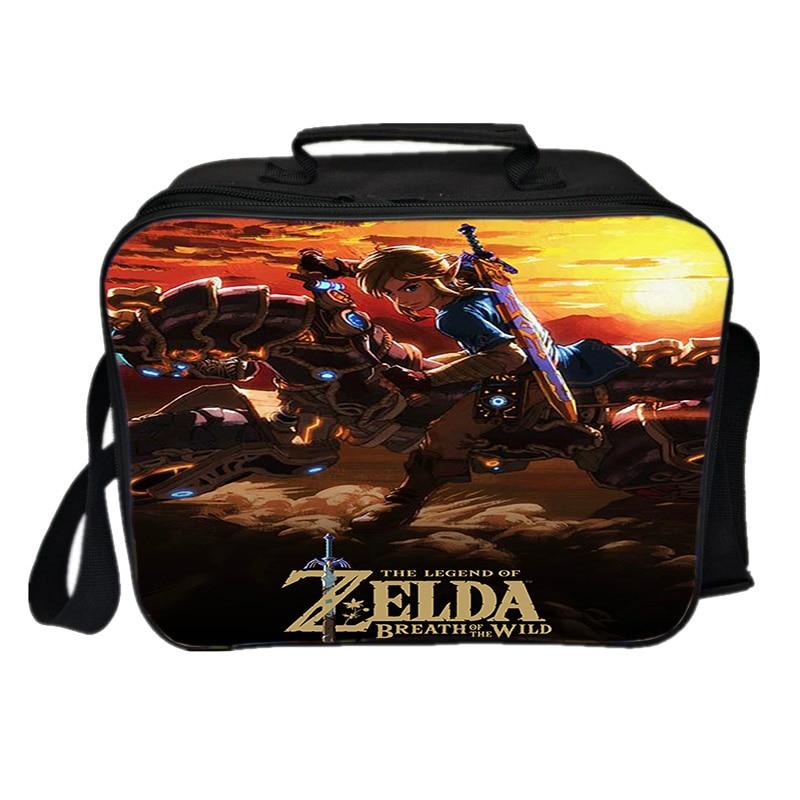 Bolsa de Almoço Bolsa de Ombro Caixa de Piquenique a Lenda de Zelda Fresco Mantendo Bolsa Refrigerador Link Isolamento Gelo Pacote Feminino Masculino Térmico