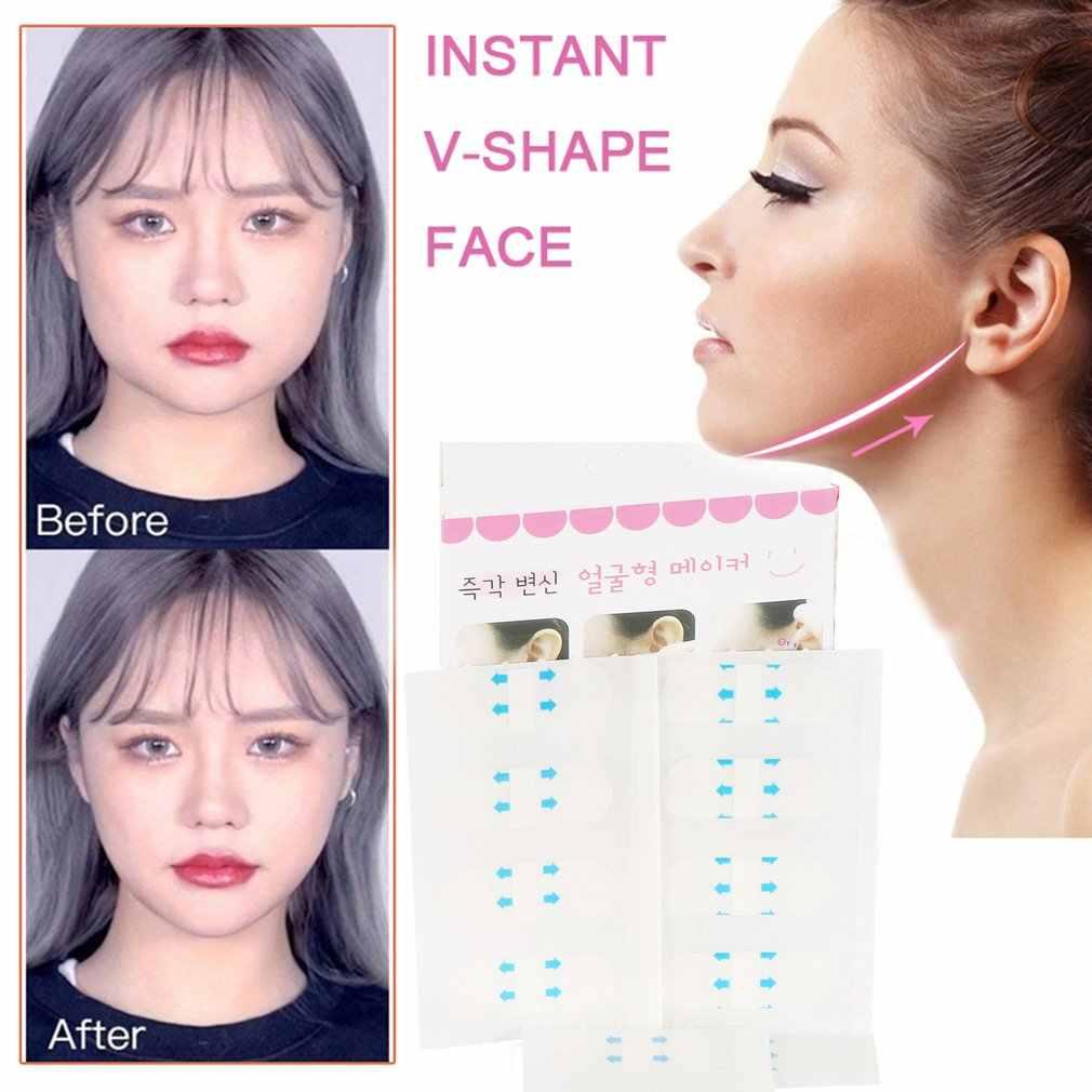 40 teile/satz Lift Gesicht Aufkleber Make-Up Gesicht Kinn Lift Werkzeuge Dünne Artefakt Unsichtbare Medizinische Band Gesicht Schönheit Werkzeuge