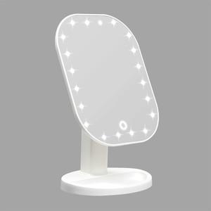 Image 1 - مرآة فاخرة مع 20 LED أضواء 180 درجة طاولة قابلة للضبط مرآة لوضع مساحيق التجميل لمسة باهتة LED مرآة شاشة تعمل باللمس مرآة لوضع مساحيق التجميل