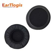 Eartlogis substituição almofadas de ouvido para pioneer hdj 2000mk2 2000 1500k 1500s fone de ouvido peças earmuff capa almofada copos travesseiro