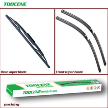 Front and Rear Wiper Blades For Porsche Cayenne 2003-2006 Rubber Windscreen Wipers Auto Car Accessories 26+26+13 cheap toocene CN(Origin) natural rubber 2005 2002 2004 0 3kg clean the windshield TC212 Ningbo China
