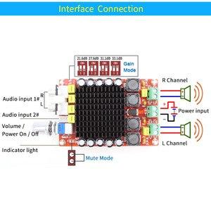 Image 5 - Плата цифрового усилителя UNISIAN TDA7498 Class D высокой мощности, 2,0 каналов, 2 аудиоусилителя 100 Вт с акриловым корпусом опционально