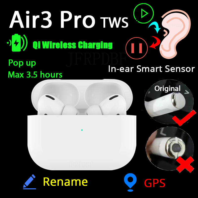 Bluetooth Air 3 Pro TWS In Ear Blutooth Earphone Wireless Headsets Mini Headphones Stereo Earbuds Touch For iPhone Elair Fone(China)