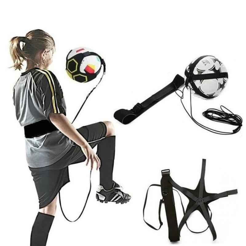 Football Training Sport Support Adjustable Soccer Coach Soccer Ball Practice Belt Training Equipment Kick 1Pcs Y*