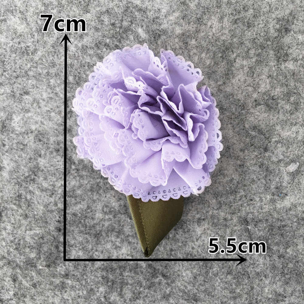 Tkanina matowa 3D kokarda kwiatowa domowa dekoracja Garland ozdoby świąteczne prezent walentynkowy sztuczne kwiaty kwiatowe Scrapbooking
