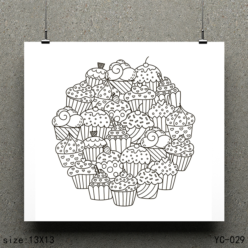 ZhuoAng Ice cream model Clear Stamps For DIY Scrapbooking Card Making Decorative Silicon Stamp Crafts in Stamps from Home Garden