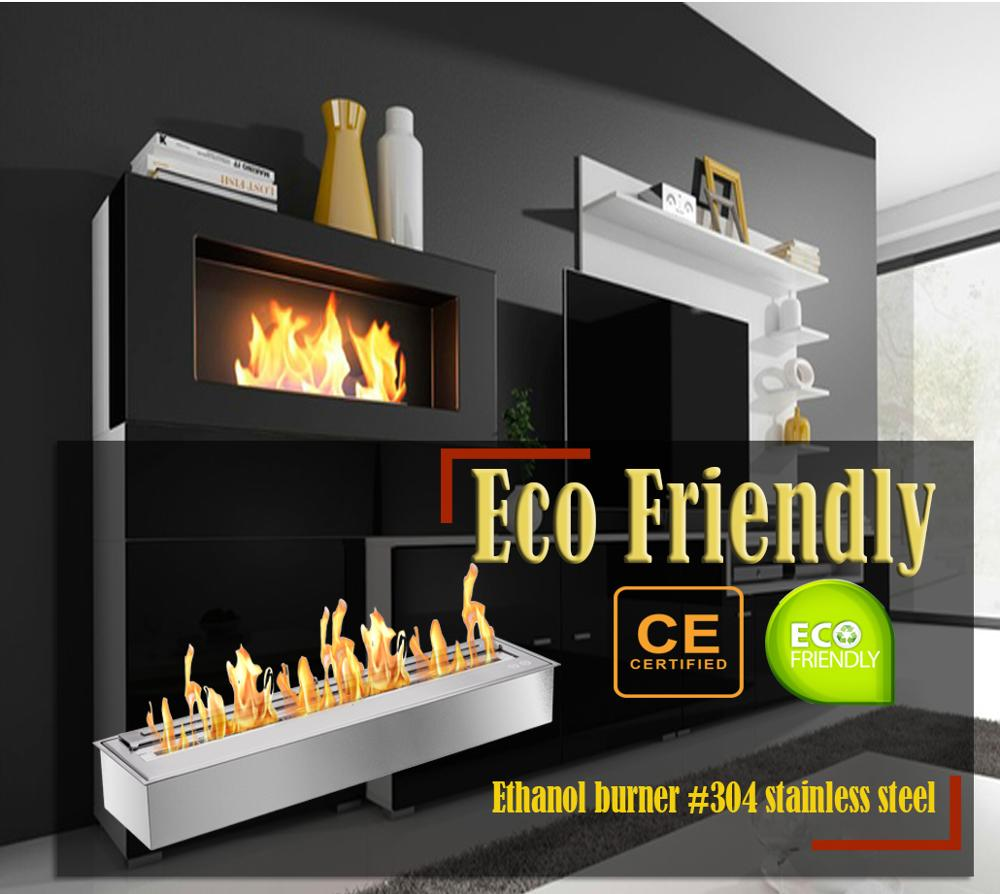 Inno Living Fire 24 Inch Chimenea Alcohol Pared Bioethanol Insert Fireplace