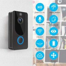 QZT Smart WiFi Video Doorbell Night Vision Camera IP Peephole Intercom Chime Door Phone Wireless Home Security Camera Door Bell