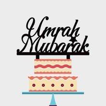1 шт Персонализированные Акриловые Торт Топпер Umrah Мубарак торт Топпер для Ид аль Фитр ИД Мубарак украшение партии YC098
