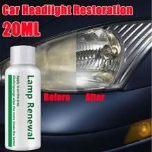 Liquide de réparation pour phares de voiture, 20ML, liquide de réparation pour réparation, détergent, nettoyant pour phares de voiture, dissolvant de rayures