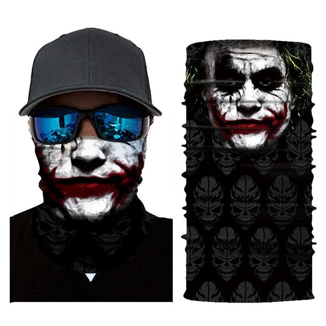 New Motorcycle Face Mask Halloween Scarf Mask face shield Head Scarf Neck Warmer Windproof Sun Mask Balaclava  Biker Masks 4