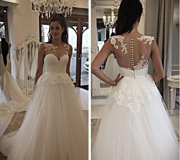 Casamento A-line Vestido De Noiva 2018 New Fashion Hot Sexy Long Romantic Appliques Bridal Gown Mother Of The Bride Dresses