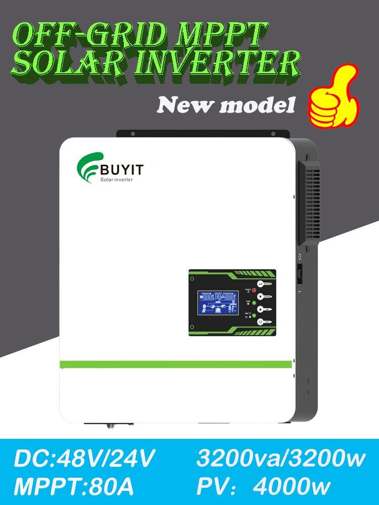 3200w 48v 24v 80a mppt hibrido inversor mppt 230v onda senoidal pura 3kw solar precisa bateria