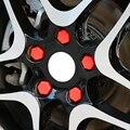 20 шт. автомобильное Силиконовое колесо Ступица с крышкой для винта для Seat Leon Ibiza Renault Duster Megane 2 Logan Captur Clio Mazda 3 6 CX-5