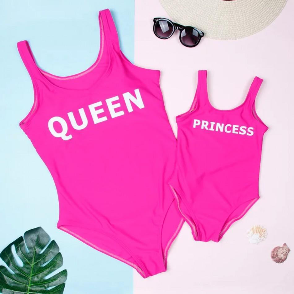 2019 New Style Parent And Child Bathing Suit Beach Shorts Europe And America Solid Color Printed Letter Swimwear