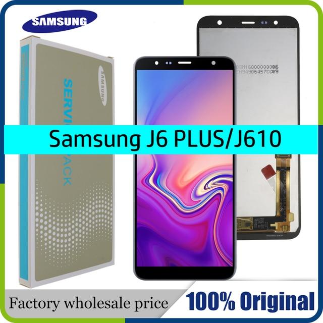 Pantalla LCD Original de 6,0 pulgadas para móvil, repuesto de pantalla LCD para Samsung Galaxy J6 + J610 J610F J610FN