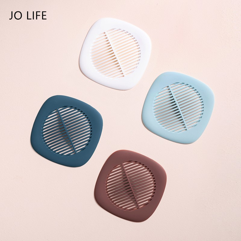 JO LIFE Anti-blocking Floor Drain Sewer Hair Filter Silicone Strainer Bathroom Shower Drain Sink Drains Cover
