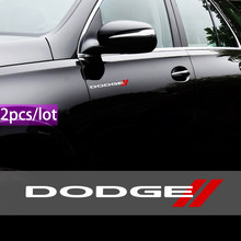 Стайлинг автомобиля, 2 шт., водонепроницаемые наклейки, декоративные светоотражающие наклейки для Dodge Challenger RAM 1500, калибр зарядного устройст...