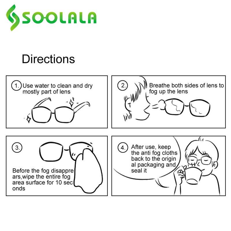 SOOLALA 6pcs 15x14.5cm Eyeglasses Anti-Fog Cloth Microfiber Fabric Glasses Cleaner for Spectacles Lenses Camera Phone Screen 6