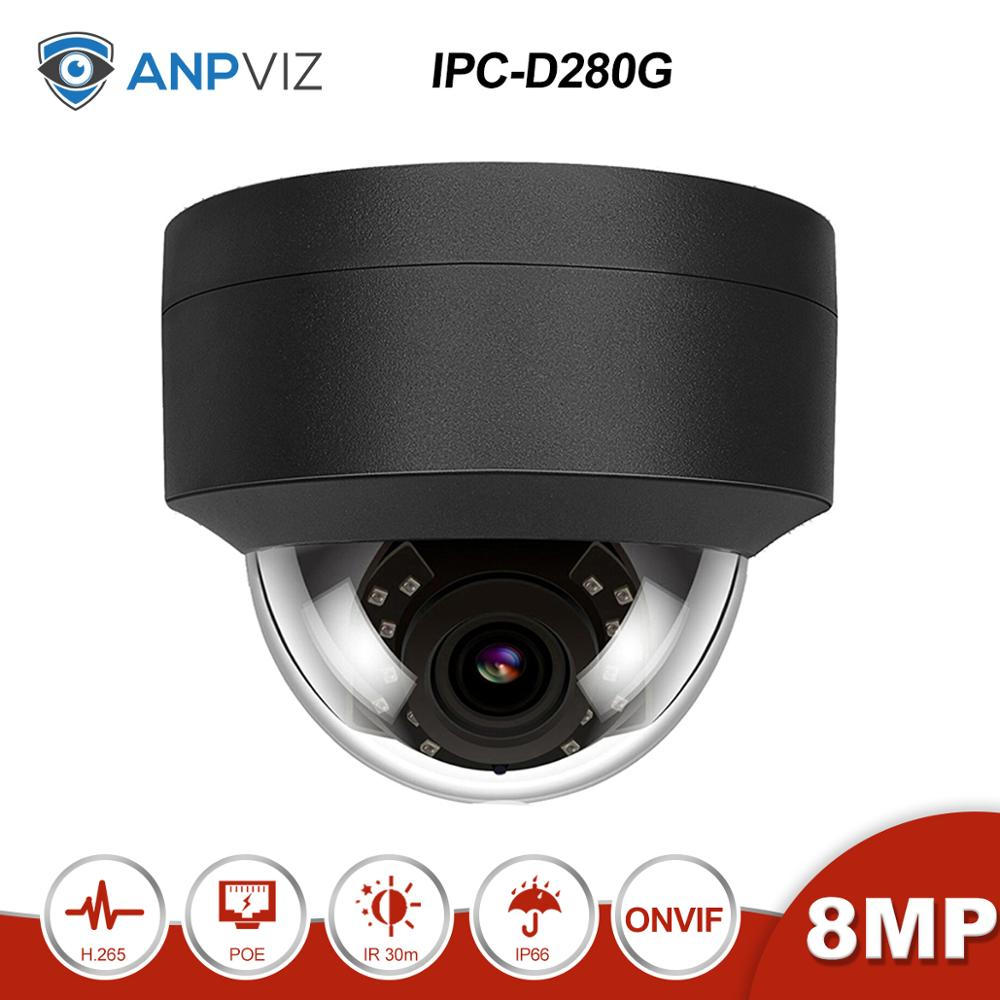 Anpviz(Hikvision Compatible)  IPC-D280G 8MP POE Dome IP Security Camera ONVIF DHCP Outdoor IP66  Night Vision IR30m H.265